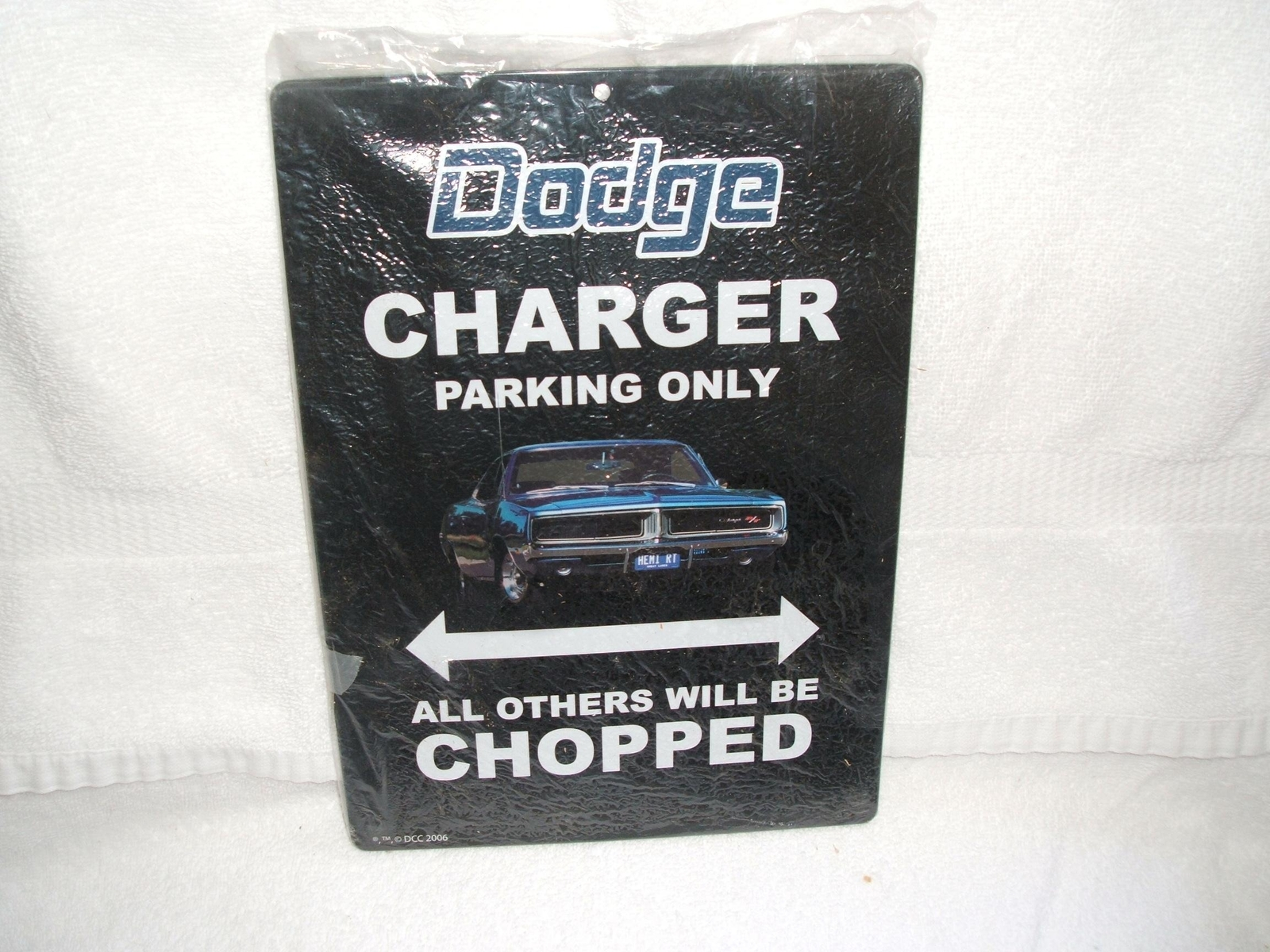 Primary image for OLD VTG Dodge - Charger Parking Only tin metal sign