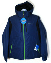 COLUMBIA WINDFALL SLOPE MEN'S BLUE WATERPROOF HOODED JACKET Sz L, #XM402... - $70.19