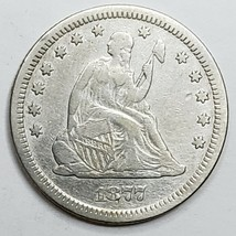 1877CC United States Seated Liberty Quarter Dollar 25c Coin Lot A 156