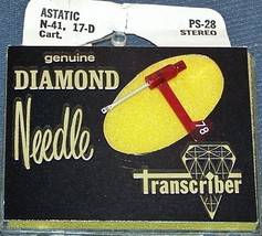 159-DS73 PS-28 RECORD PLAYER STEREO NEEDLE for Astatic 17 17d 135 217D 78 RPM image 1