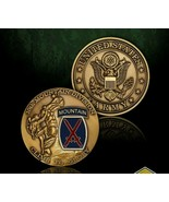 """ARMY 10TH MOUNTAIN DIVISION CLIMB TO GLORY 1.75"""" CHALLENGE COIN  - $18.04"""