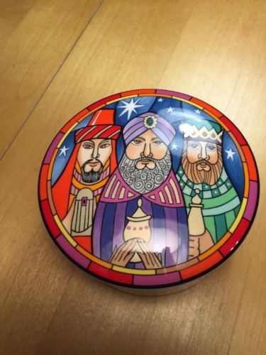 Primary image for Mikasa Ultra Ceram Christmas Three Wise Men Bowl w/ Lid Designed by Dan Scannell