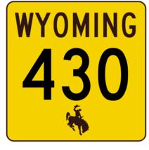 Wyoming Highway 430 Sticker R3539 Highway Sign - $1.45+