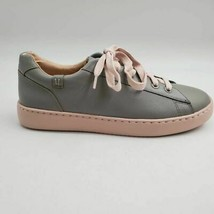 Vionic Womens Mable Sneaker Shoes Gray Low Top Lace Up Water Resistant 8 M New - $68.30