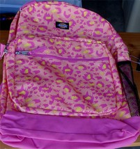 Dickies Backpack - Pink with Multi-Colored Splotch Style Spots - BRAND NEW TAGS - $39.59