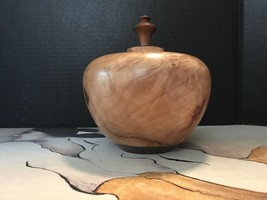 Vintage Wood Vase With Stopper. Its In Great Condition. - $24.75