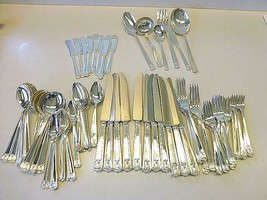96 Pc CENTURY Holmes Edwards Silverplate Set 12 Cream Soup Cocktail Fork... - $188.09