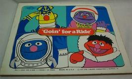 "VINTAGE Playskool Sesame Street ""GOIN' FOR A RIDE"" WOODEN FRAME TRAY PUZ... - $19.80"