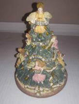 "MUSICAL ANGEL TREE Holiday Workshop 8 1/4"" Revolving Hark The Herald Ang... - $7.42"