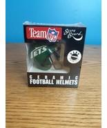 RARE The Scoreboard Ceramic Mini Team Helmet New York Jets Hand Painted - $27.42