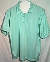 Columbia PFG Mens XL Vented Polo Shirt Fishing Gear Performance Color Aqua Green - $21.78