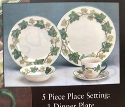 Franciscan Ivy China Dinnerware 5 Piece Place Setting 6042905 Made In En... - $74.41