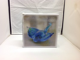 NEW Costal Blue-Green Sting Ray Art Glass Collection Tabletop Figurine