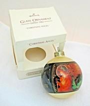1982 Hallmark Holiday Christmas Angel Ornament Ball In Original Box Hang... - $22.28