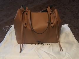 COACH Large Market Tote Polished Pebble Leather Light Saddle 59097 FREE ... - $400.00