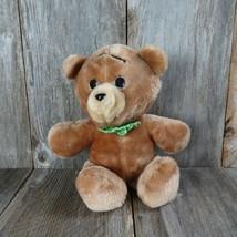 Vintage Teddy Bear Plush Green Bow Tie Stuffed Animal Fair Polka Dot - $69.29