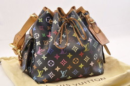 LOUIS VUITTON Monogram Multicolor Petit Noe Shoulder Bag M42230 LV Auth ... - $860.00