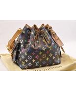 LOUIS VUITTON Monogram Multicolor Petit Noe Shoulder Bag M42230 LV Auth ... - $860.00