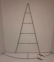 "Halloween Witch's Hat Decoration Wreath Wire Frame Form Size 22""H X 21""W... - $24.38"