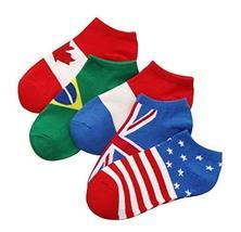 Black Temptation 5 Pairs of Socks Men's Cotton Socks Sports Socks Flag S... - $18.98
