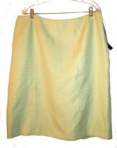 Plus Size 18 - NWT Le Suit Light Green Textured Business Suit Skirt - $24.99