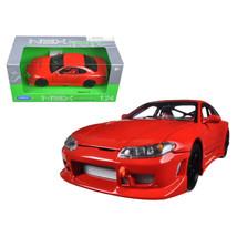 Nissan S-15 RHD Red 1/24 Diecast Model Car by Welly 22485NS-R - $29.91