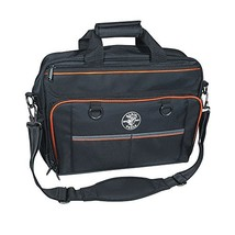Tool Bag, Tradesman Pro Tech Bag with Laptop Pocket, Black and Orange Klein Tool - $88.99