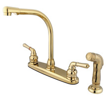 Magellan Centerset Kitchen Faucet,Matching Side Sprayer,Polished Brass - $80.26