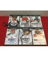 LOT Nintendo Gamecube 6 DVD EA Sports NBA 06 NFL Madden MVP Baseball Tig... - $50.00