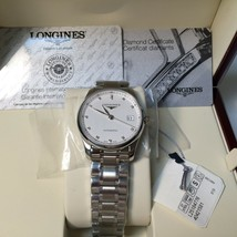 NEW In Box! Longines Master Collection Real Diamond Men Watch Hour~L2.518.4.77.6 - $2,802.50