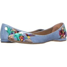 Nine West Suziella Floral Ballet Flats 839, Light Blue Denim, 6 US - $25.90