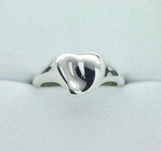 TIFFANY & CO. Sterling Silver Elsa Peretti Full Heart Ring (Size 6) - $130.00