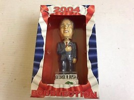 2004 BOBBLECTION GEORGE W BUSH MIRACLE BASEBALL GIVEAWAY BOBBLE HEAD NEW... - $29.03