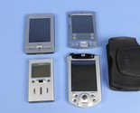 Lot of 4 Various PDAs & MP3 Player Dell Axim X3, Palm Tungsten, HP Pocket PC