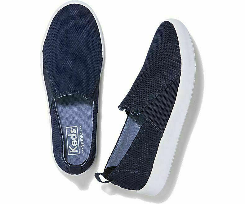 Keds WF58728 Women's Studio Liv Diamond Mesh Navy Shoes, 9.5 Med
