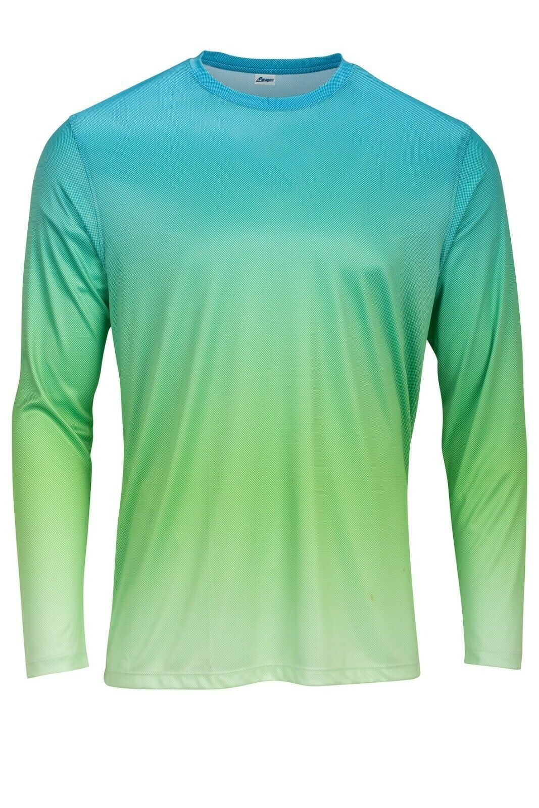 Sun Protection Long Sleeve Dri Fit  Aqua Blue Lime  base layer sun shirt UPF 50+