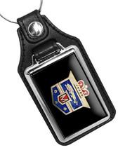 1949 Ford Mercury Monarch Hood Emblem Design Faux Leather Key Ring  - €9,82 EUR