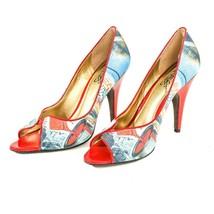 Carlos Santana Pounce Multi Color Stiletto Pumps High Heel Shoes Womens 9 M - £19.73 GBP