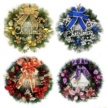 1pcs New Year Christmas Wreath With Bow Handcrafted Elegant Holiday Wreath - $22.99