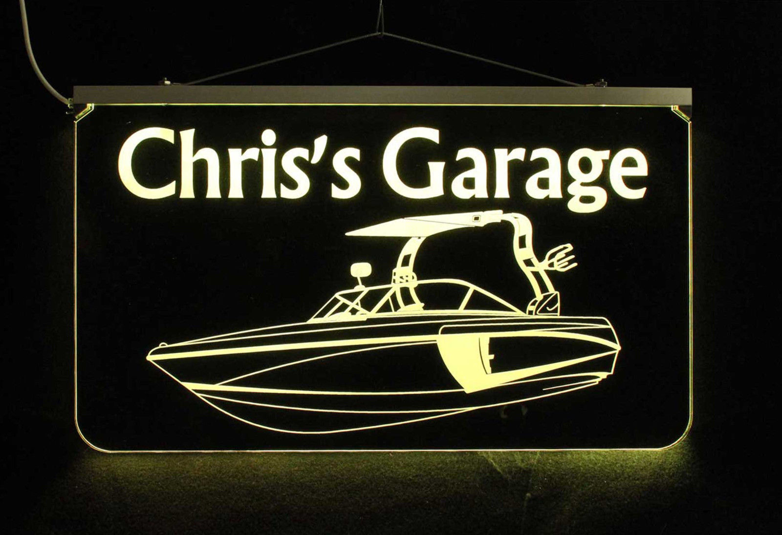 Personalized Boat Sign LED Man Cave Sign- Garage Sign, Bar sign, Camping Sign image 4