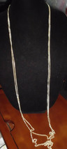 VTG Gold Tone Western Germany Signed Dual Strand Necklace - $19.80