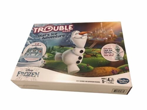 NEW DISNEY FROZEN II 2 POP-O-MATIC TROUBLE 3D BOARD GAME OLAF'S ICE ADVENTURE - $21.99