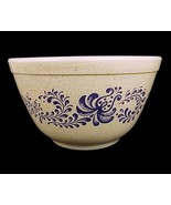 Pyrex Homesteand Blue Folk Art 401 Mixing Bowl ... - $9.95