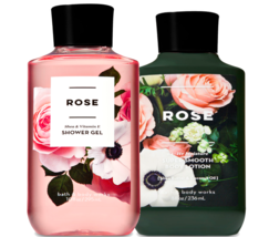 Bath & Body Works Rose Body Lotion + Shower Gel Duo Set - $26.41