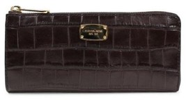 Michael Kors Bedford 3/4 Zip Embossed Leather Wallet NWT - $119.00
