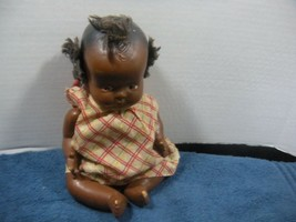 Vintage Early Antique Black Americana Topsy Baby Doll composition - $15.00