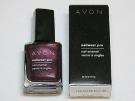 Avon NailWear Pro Nail Enamel N239 Night Viol 12 ml 0.4 fl oz polish mani pedi - $10.68