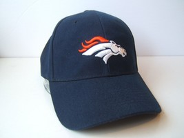 Denver Broncos Hat Dark Blue Hook Loop Baseball Cap - $15.36