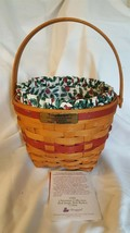 Longaberger 1994 Christmas Collection JINGLE BELL RED Basket Liner Prote... - $19.95