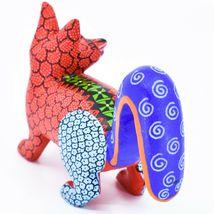 Handmade Alebrijes Oaxacan Copal Wood Carving Painted Folk Art Fox Figurine image 4
